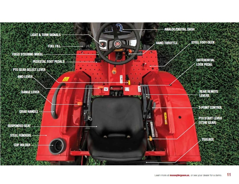 1700 Series FROM MASSEY FERGUSON A world of experience